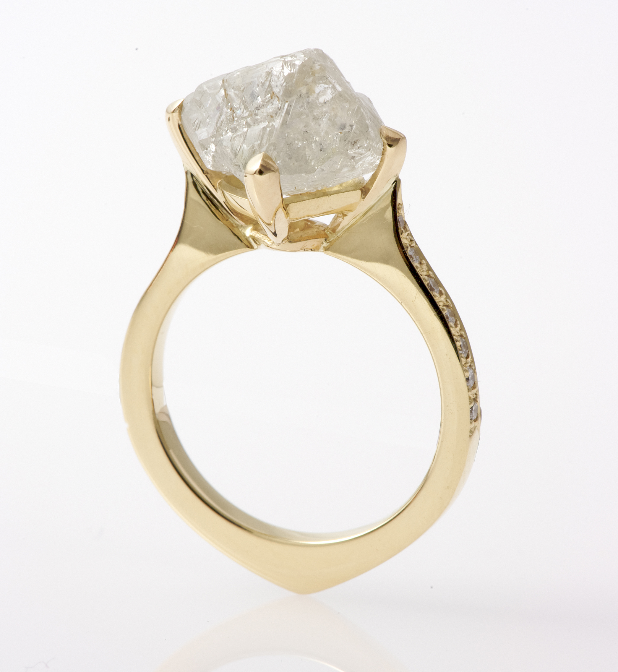 zoom listing rings diamondrough with antler set ring il fullxfull rough diamond raw