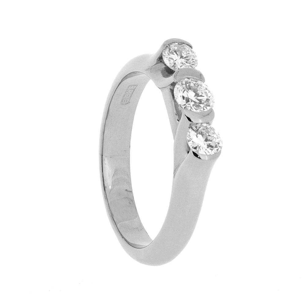 e4c0dfaeb69cd 18ct White Gold and Round Diamond Castillio Trilogy Ring