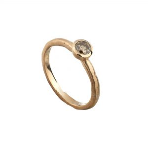 18ct rose gold and 30pt cinnamon diamond Molten engagement ring