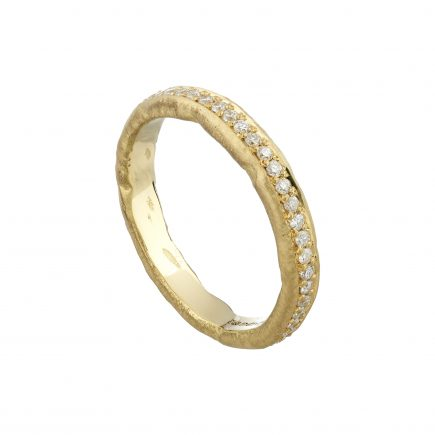 18ct yellow gold and diamond Molten full eternity ring