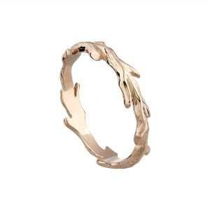 9ct rose gold woodland wedding ring