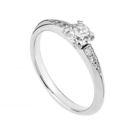 18ct white gold and 50pt diamond Coco engagement ring