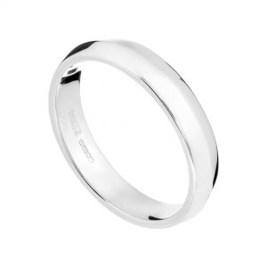 18ct white gold gents medium Coco wedding ring