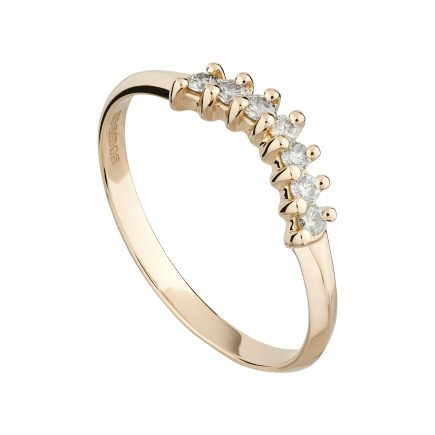 18ct rose gold and champagne diamond fitted Coco wedding ring