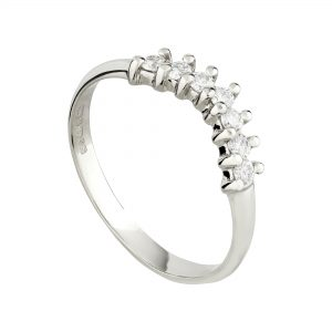 18ct white gold and diamond fitted Coco wedding ring
