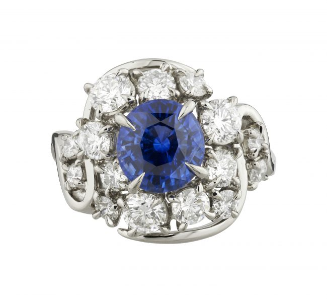 18ct white gold Limited Edition Sapphire and Diamond ring
