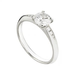 18ct white gold and 1 carat diamond Coco engagement ring