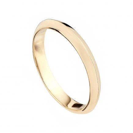 18ct Rose Gold Coco Fine Wedding Band