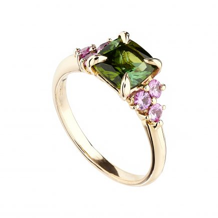 18ct Rose Gold Coco Tourmaline and Pink Sapphire Cocktail Ring