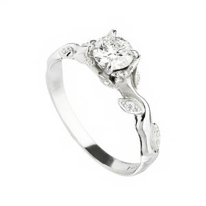 Platinum and 50pt diamond Rose and Thorn solitaire