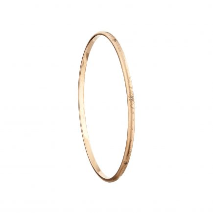 9ct rose gold and champagne diamond Stardust bangle
