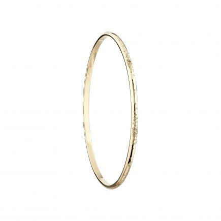 9ct yellow gold and white diamond stardust bangle