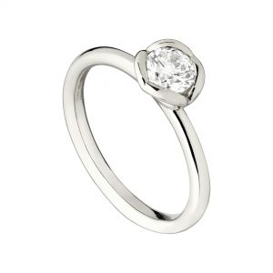 18ct White Gold & 0.52ct white diamond Engagement Ring