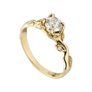 18ct white gold and Diamond Rose and Thorn engagement ring