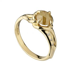 18ct yellow gold and 1ct yellow rose-cut diamond Woodland ring