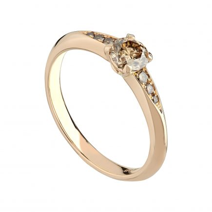 18ct Rose Gold and Champagne Diamond Coco Engagement Ring