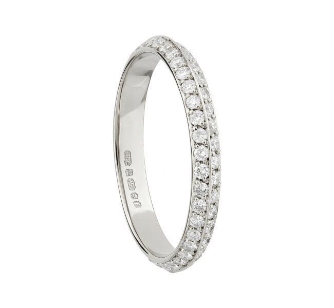 18ct white double-sided full Coco eternity ring
