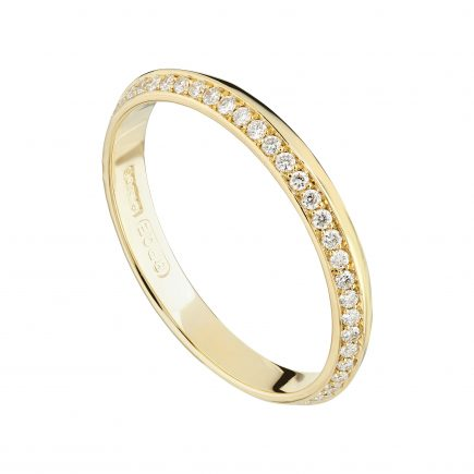 18ct yellow gold and white diamond full (one-edge) Coco eternity ring
