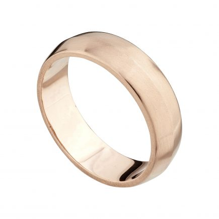 9ct rose gold wide Coco wedding ring