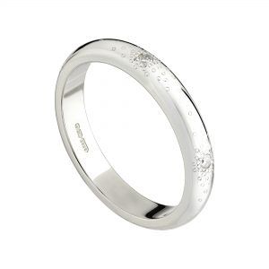 18ct white gold and white diamond Stardust eternity ring