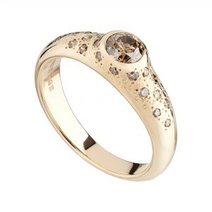 18ct rose gold and champagne diamond Stardust ring