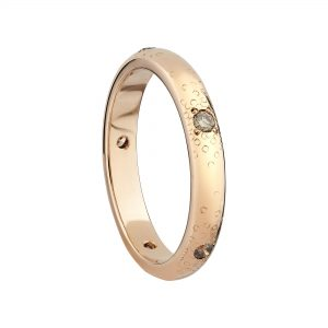 18ct rose gold and champagne diamond Stardust eternity ring