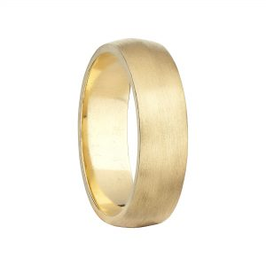 18ct Yellow Gold Wide Coco Knife-Edge Wedding Band