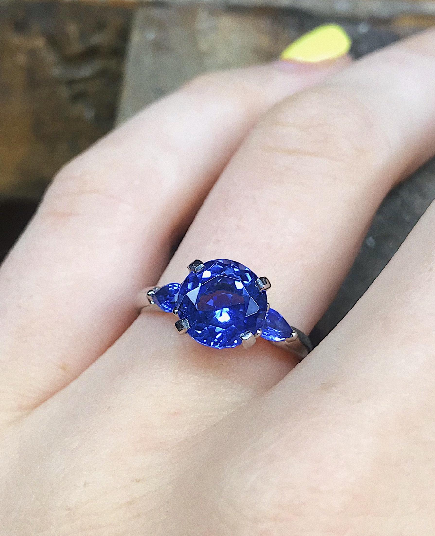 Bespoke Tanzanite and sapphire ring