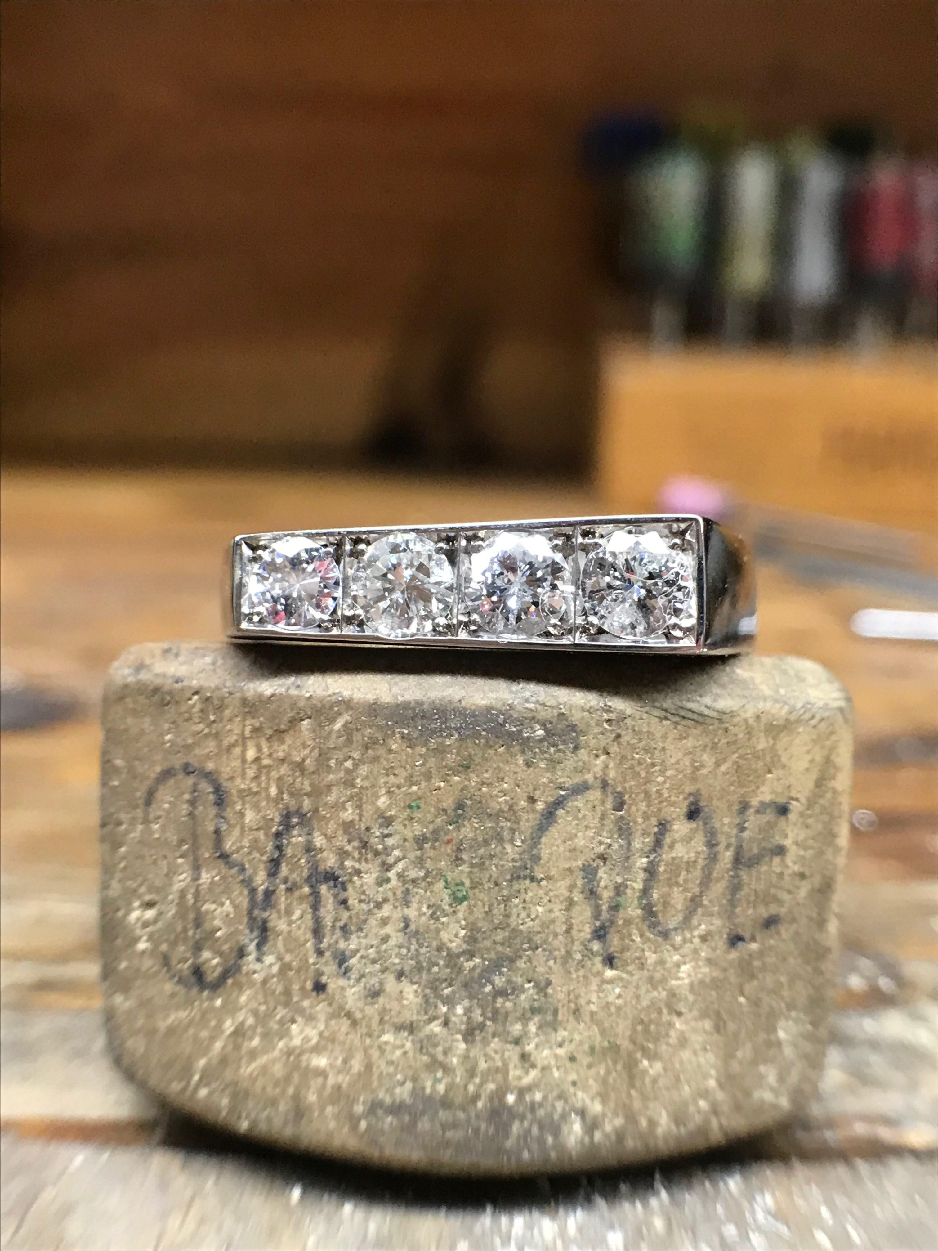 Bespoke diamond wedge ring