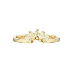 18ct yellow gold and marquise yellow diamond Fan ring