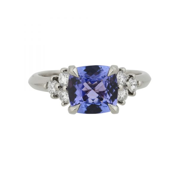 18ct white gold Tanzanite and Diamond Coco cocktail ring