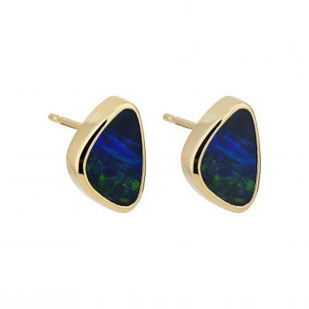18y opal stud earrings