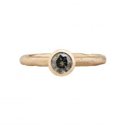 18ct rose gold 0.42ct salt and pepper diamond engagement ring