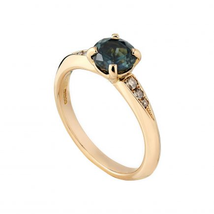18ct rose gold and Australian sapphire Coco engagement ring