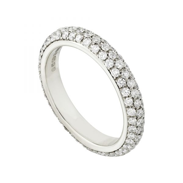 18ct white gold full pave-set diamond eternity ring