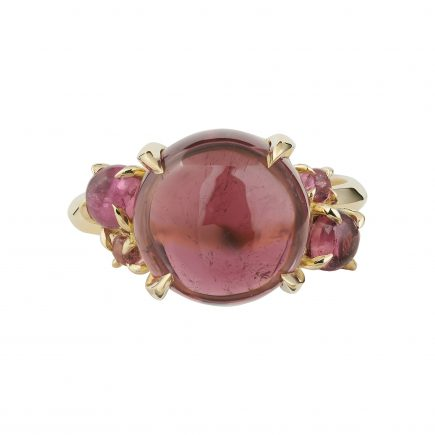 18ct yellow gold and tourmaline cab ring