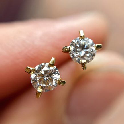18ct Yellow Gold and Diamond Coco Studs