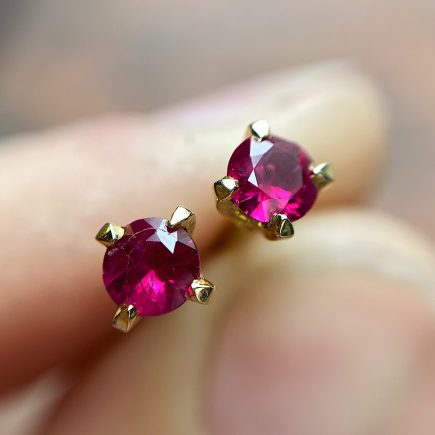 18ct Yellow Gold and Ruby Coco Studs