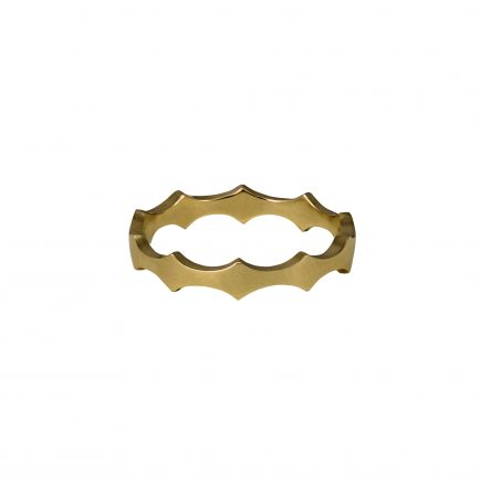 9ct yellow gold Cara Tonkin Double Edge Scallop Ring
