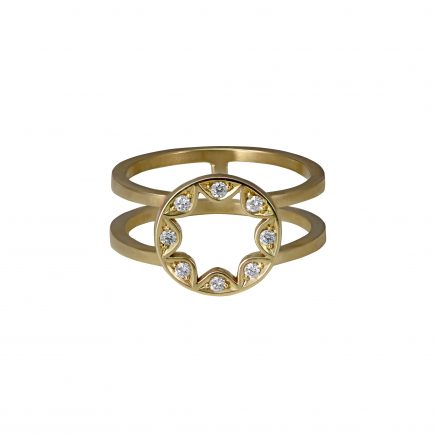 9ct yellow gold Cara Tonkin Scalloped Disc Ring