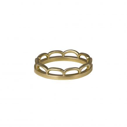 9ct yellow gold Cara Tonkin scallop lace ring