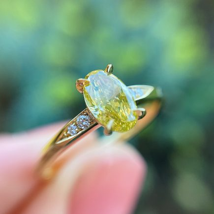 18ct Yellow Gold and Yellow Diamond Mini Coco Ring