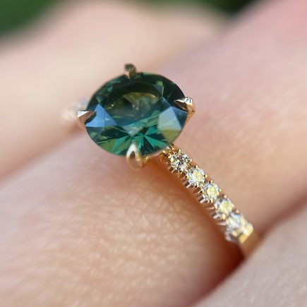 18ct Rose Gold Australian Sapphire Solitaire Ring