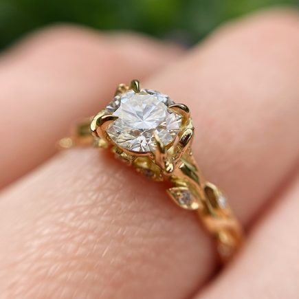 18ct Yellow Gold and 0.60ct Diamond Rose and Thorn Ring