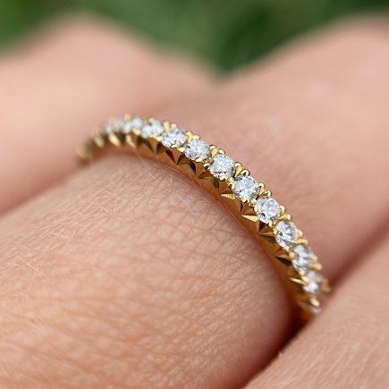 18ct Yellow Gold French-cut White Diamond Eternity Ring