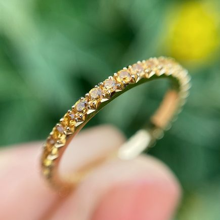 18ct Yellow Gold French-cut Yellow Sapphire Eternity Ring